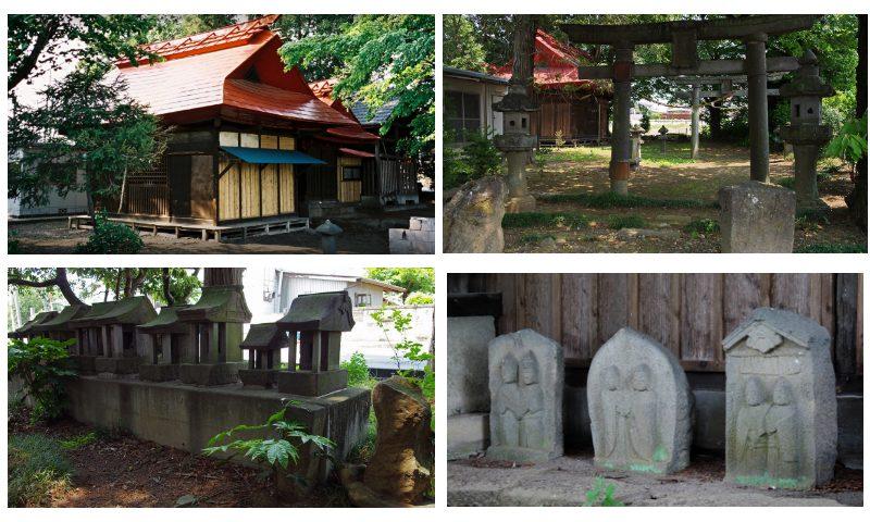 時沢神社の様子を撮影した写真